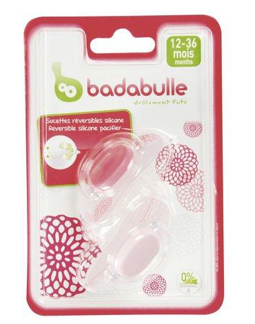 Badabulle Komplet 2 smoczków 12-36 m-cy Girl B011009