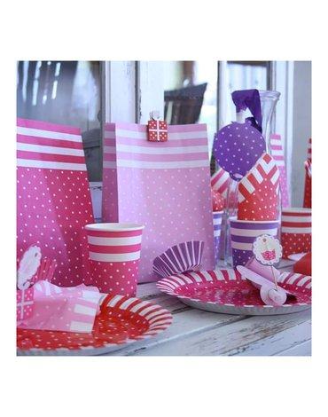 JaBaDaBaDo - Torebki na słodycze różowe mix