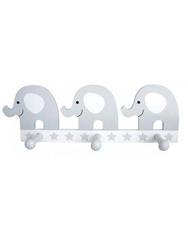 JaBaDaBaDo - Wieszak szary słoń - potrójny