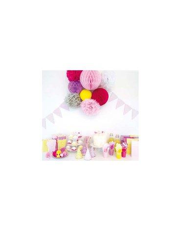 JaBaDaBaDo - Czapeczki urodzinowe różowe