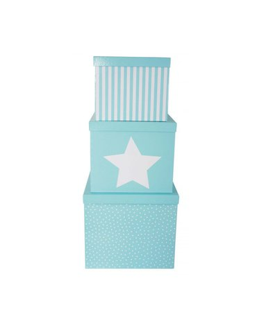 JaBaDaBaDo - Pudełka niebieskie gwiazdka duże 3szt
