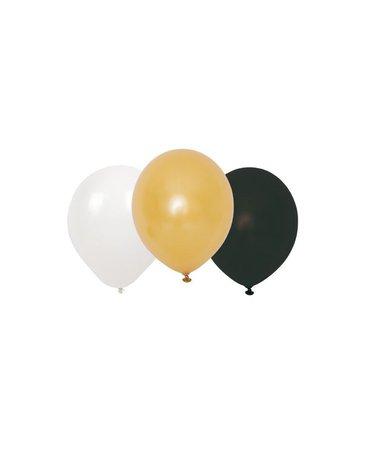 JaBaDaBaDo - Balony złote czarne białe  mix 9szt.