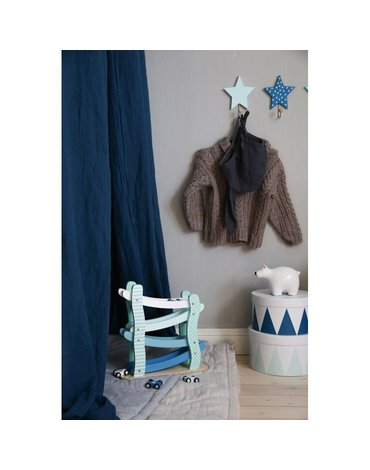 JaBaDaBaDo - Wieszak gwiazdki pastelowy niebieski 3szt