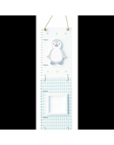 Drewniana miarka wzrostu wzrostu pingwin Jabadabado