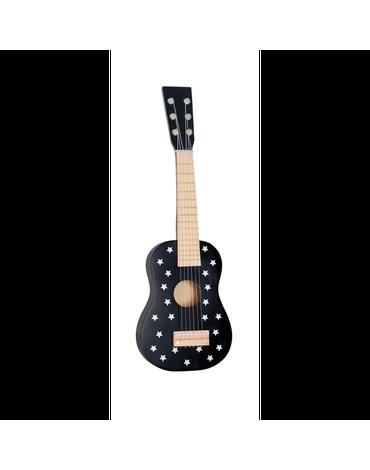 Drewniana gitara czarna gwiazdki Jabadabado
