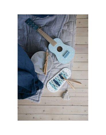 Drewniana gitara pastelowy niebieski Jabadabado