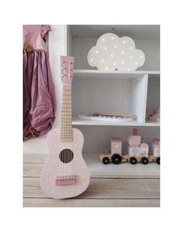 Drewniana gitara pastelowy różowy Jabadabado