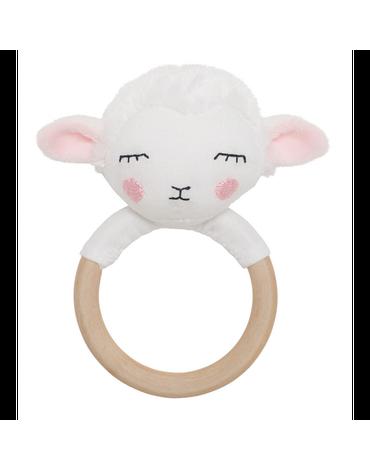 Grzechotka-gryzak drewniana owieczka Jabadabado