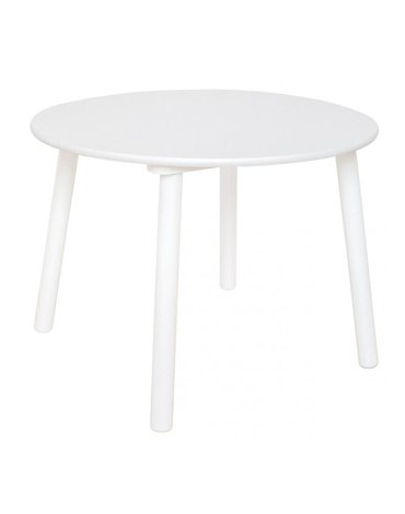 Drewniany Stolik biały okrągły Jabadabado