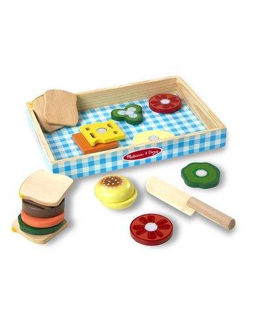 Melissa&Doug® - Drewniany zestaw do zrobienia Kanapek i Burgerów