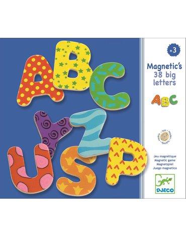 Djeco - Duże litery magnetyczne 38 szt DJ03100