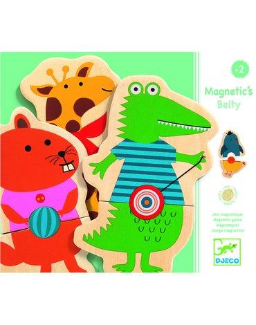 Djeco - Magnetyczne puzzle drew. zwierzątka DJ03114