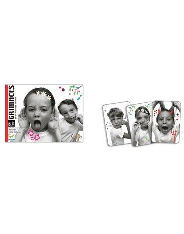 Djeco - Gra karciana pamięciowa - minki - Grimaces
