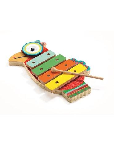 Djeco - Cymbałki i ksylofon PAPUGA DJ06018