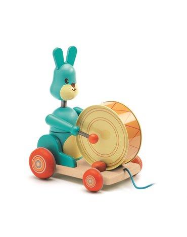 Djeco - Drewniana zabawka do ciągnięcia króliczek DJ06251