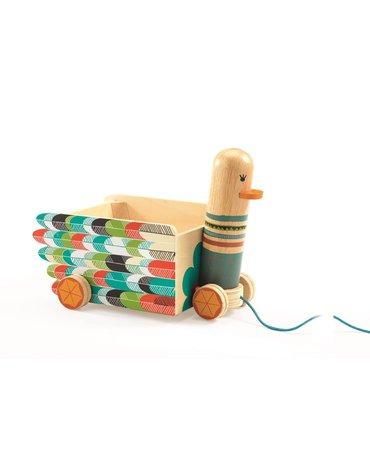 Djeco - Drewniana zabawka do ciągnięcia LENI DJ06255