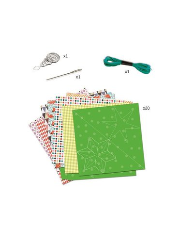 Djeco - Kirigami papierowe gwiazdy DJ08765