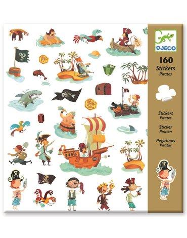Djeco - Zestaw naklejek 160cz., piraci DJ08839