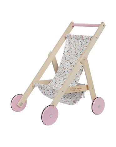 Little Dutch Drewniany wózek dla lalek Spring flowers LD4441
