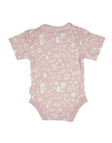 Little Dutch Bawełniane body z krótkim rękawkiem Adventure Pink 50/56 180075