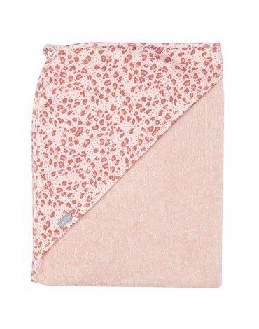 Bebe-Jou - bébé-jou Ręcznik z kapturkiem Leopard Pink 3010123