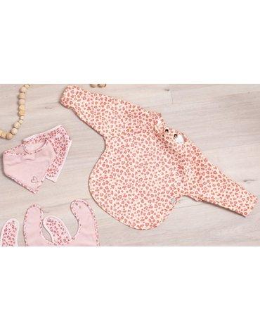 Bebe-Jou - bébé-jou Śliniak z długim rękawem Leopard Pink 3058123