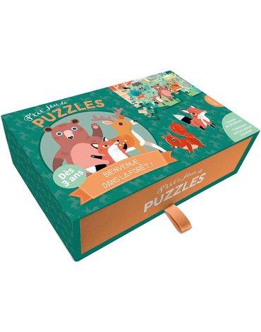 Auzou Puzzle Leśny świat + kartonowe zwierzątka 3+ 56567