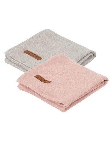 Little Dutch Otulacze 70 x 70cm Pure Pink / Grey (2 sztuki) TE50330153