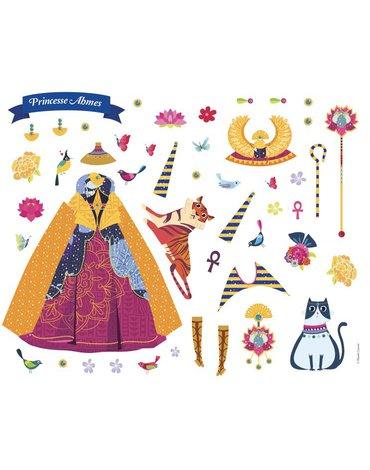 Auzou Naklejki na planszach Księżniczki całego świata 3+ 76732