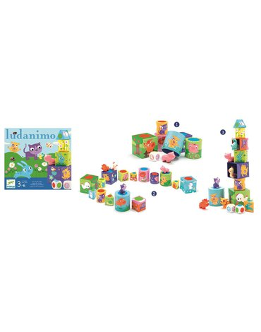 Djeco - Ludanimo zestaw 3 gier dla dzieci DJ08420