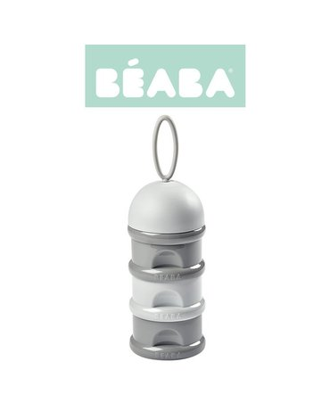 BEABA Pojemniki na mleko w proszku light/dark mist (opakowanie zbiorcze 6 szt.)