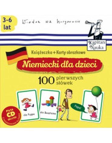Kapitan Nauka - Niemiecki dla dzieci. 100 pierwszych słówek + CD