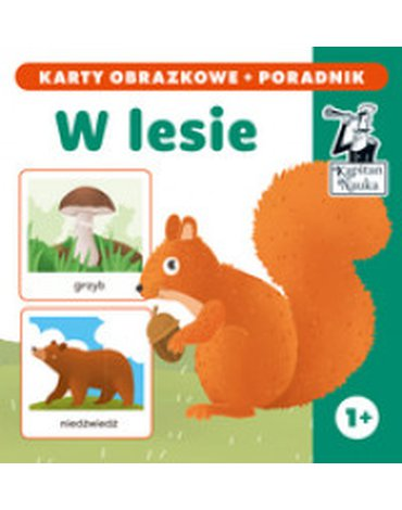 Kapitan Nauka - W lesie (karty obrazkowe + poradnik)