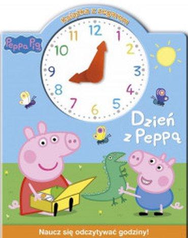 Media Service Zawada - Świnka Peppa. Książka z zegarem. Dzień z Peppą