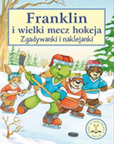 Wydawnictwo Debit - Franklin i wielki mecz hokeja. Zgadywanki i naklejanki