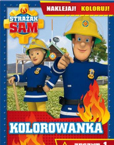 Olesiejuk Sp. z o.o. - Strażak Sam. Kolorowanka. Naklejaj! Koloruj! Zeszyt 1