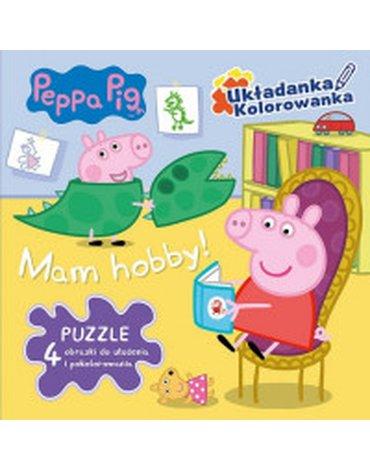 Media Service Zawada - Peppa Pig. Mam Hobby! Układanka-kolorowanka. Magiczne puzzle