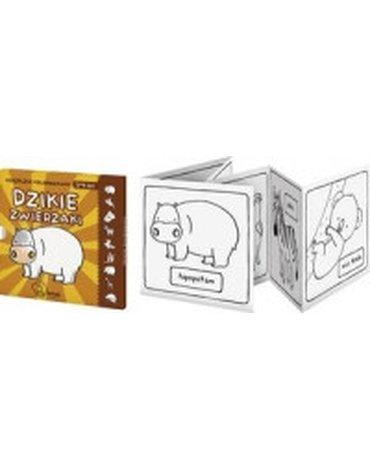 Monumi - Dzikie zwierzęta. Książeczka-kolorowanka 3-4 lat