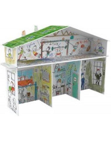 Monumi - Kolorowanka XXL 3D Domek tylko dla Chłopaków