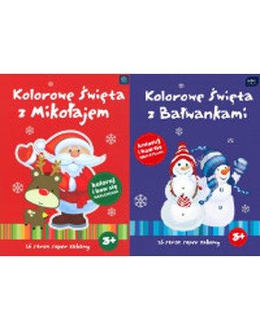 Interdruk - Kolorowe święta z Mikołajem, mix wzorów