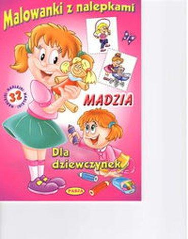 Pasja - Malowanki z nalepkami - Madzia