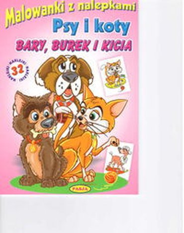 Pasja - Malowanki z nalepkami Psy i koty