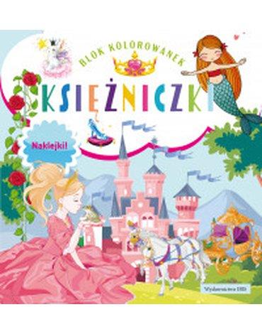 BOOKS - Blok kolorowanek. Księżniczki + naklejki