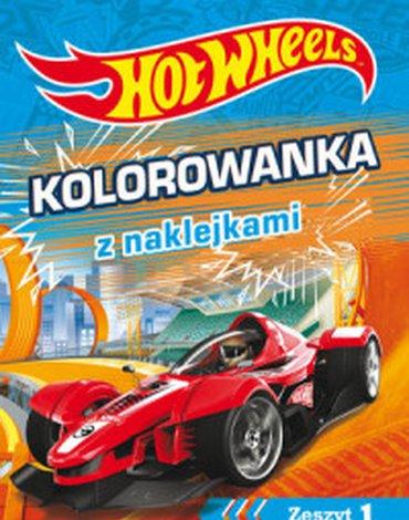 Olesiejuk Sp. z o.o. - Hot Wheels. Kolorowanka z naklejkami. Zeszyt 1