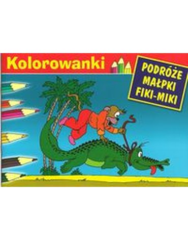 G&P Oficyna Wydawnicza - Kolorowanki (Fiki-Miki i krokodyl)