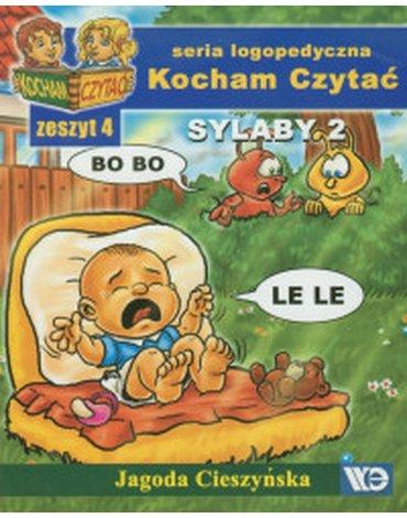Wydawnictwo Edukacyjne - Kocham Czytać. Zeszyt 4. Sylaby 2