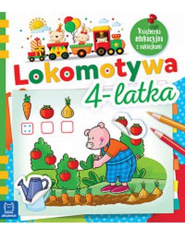 Aksjomat - Lokomotywa 4-latka. Książeczka edukacyjna z naklejkami