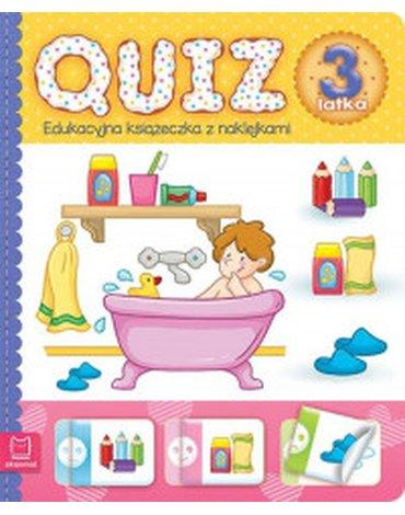 Aksjomat - Quiz 3-latka. Edukacyjna książeczka z naklejkami