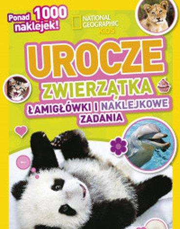 Olesiejuk Sp. z o.o. - National Geographic Kids. Urocze zwierzątka. Łamigłówki i naklejkowe zadania