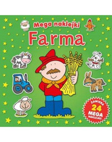 Smart Books - Mega naklejki. Farma